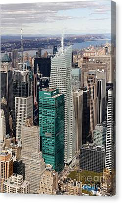 Manhattan Bryant Park Aerial Canvas Print by Jannis Werner