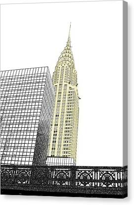 Manhattan - Chrysler Building Canvas Print by Richard Reeve