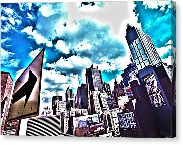 Manhattan Cityscape And Skyscape Canvas Print