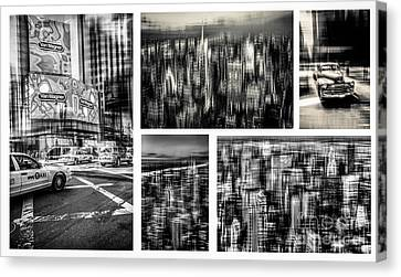 Manhattan Collection I Canvas Print by Hannes Cmarits