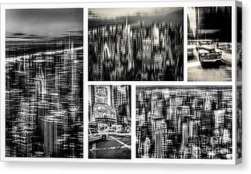 Manhattan Collection II Canvas Print by Hannes Cmarits