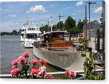 Manhattan Cruise Boat Canvas Print