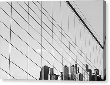 Manhattan From Brooklyn Bridge Canvas Print by Ilker Goksen
