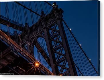 Canvas Print featuring the photograph Manhattan Light by Linda Karlin