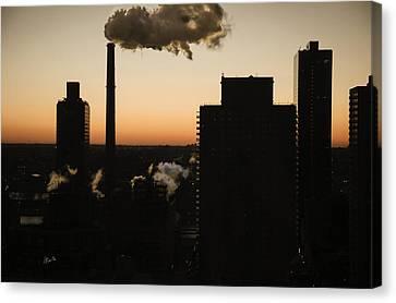 Morn Canvas Print - Manhattan Dawn View - 2015 by Madeline Ellis