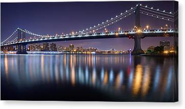 Manhattan Reflections  Canvas Print