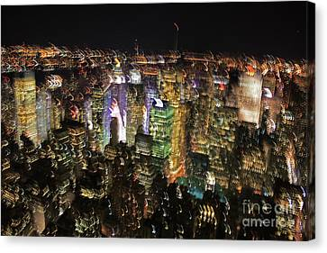Canvas Print featuring the photograph Manhattan Skyline Empire State Wobbles by Andy Prendy