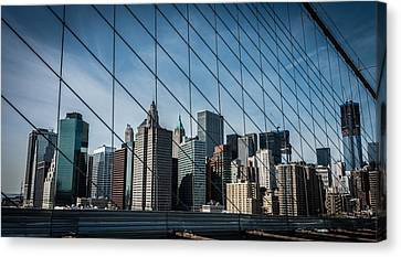 Canvas Print featuring the photograph Manhattan Skyline by James Howe