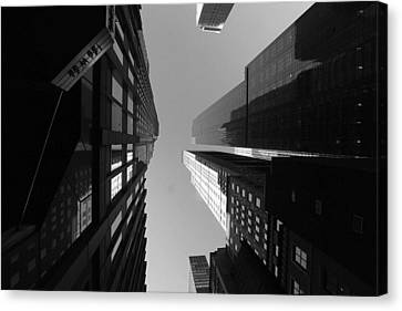 Canvas Print featuring the photograph Manhattan Skyscrapers by Linda Edgecomb