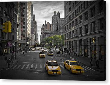 Distortion Canvas Print - Manhattan Streetscene by Melanie Viola
