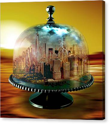 Manhattan Under The Dome Canvas Print by Marian Voicu