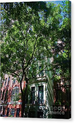 Canvas Print featuring the photograph Manhattan Upper East Side Late Summer by Andy Prendy