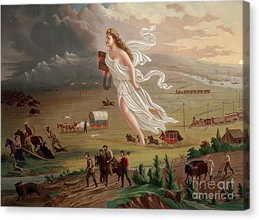 Manifest Destiny 1873 Canvas Print by Photo Researchers