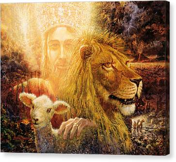 Lamb Canvas Print - Manifold Majesty by Graham Braddock