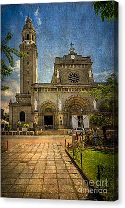 Manila Cathedral Canvas Print by Adrian Evans