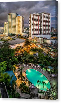 Manila City Canvas Print by Adrian Evans