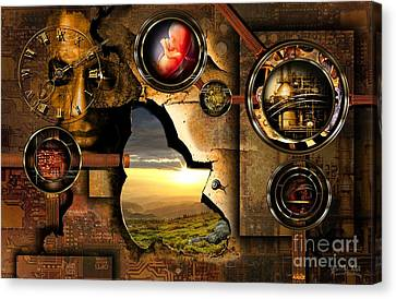 Manipulation Of The Human Reality Canvas Print by Franziskus Pfleghart