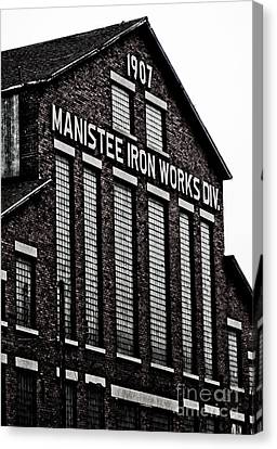 Manistee Iron Works Canvas Print by Randall  Cogle