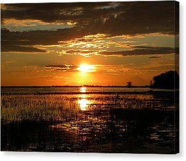 Manitoba Sunset Canvas Print by James Petersen