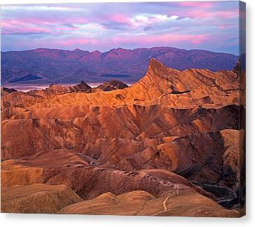 Manley Beacon From Zabriskie Point Canvas Print by Mike Norton