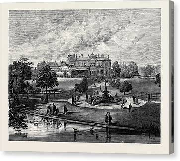 Manley Hall The New Public Park For Manchester 1880 Canvas Print by English School