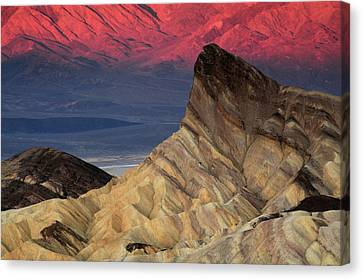 Manly Beacon At Dawn, Zabriskie Point Canvas Print by Michel Hersen