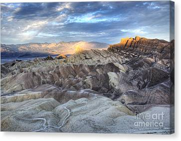 Panamint Valley Canvas Print - Manly Beacon by Juli Scalzi
