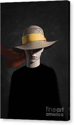 Hidden Face Canvas Print - Mannequin With Hat by Carlos Caetano