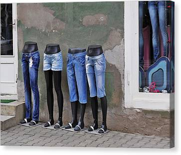 Mannequins In Draculas City Canvas Print by Ion vincent DAnu
