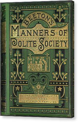 Manners Canvas Print by British Library