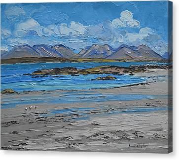 Mannin Bay Beach Ballyconneelly Connemara Canvas Print by Diana Shephard