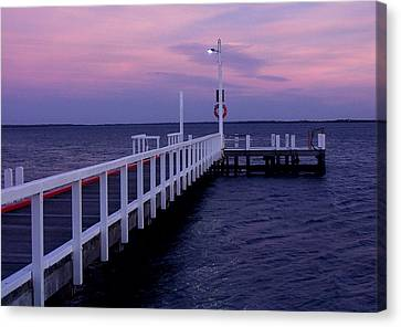 Manns Beach Jetty Canvas Print by Evelyn Tambour