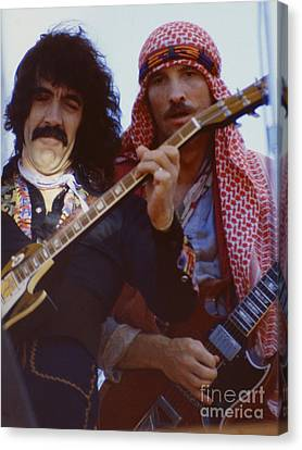 Manny Charlton And Zal Cleminson Of Nazareth  At Day On The Green 4th Of July 1979 Canvas Print by Daniel Larsen