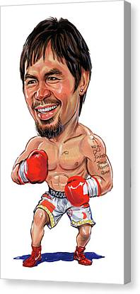 Manny Pacquiao Canvas Print by Art