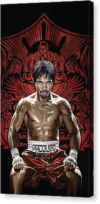 Boxing Canvas Print - Manny Pacquiao Artwork 1 by Sheraz A