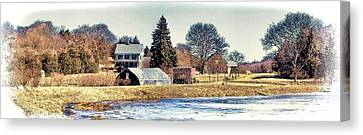 Canvas Print featuring the photograph Manomet Farm by Constantine Gregory