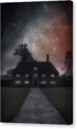 Manor At Night Canvas Print by Joana Kruse