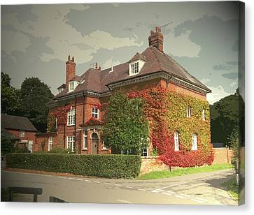 Manor House In Doveridge, Magnificent 19th Century Manor Canvas Print