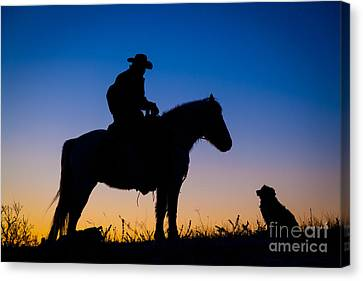 Man's Best Friend Canvas Print by Inge Johnsson