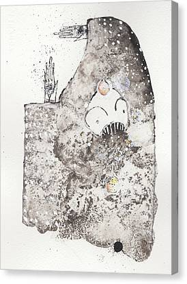 Mans Worship Of The Unknown With Uncanny Fever Hark Hark Canvas Print
