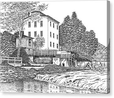 Mansfield Mill Canvas Print by Robert Powell
