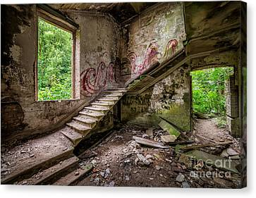 Mansion Graffiti Canvas Print by Adrian Evans