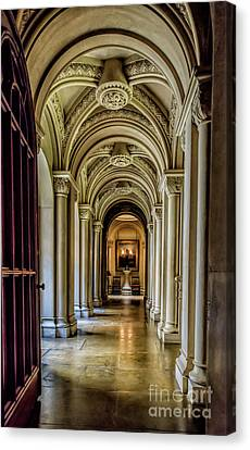 Mansion Hallway Canvas Print by Adrian Evans