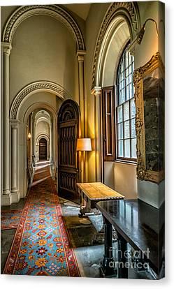 Mansion Hallway II Canvas Print by Adrian Evans