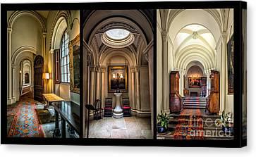 Mansion Hallway Triptych Canvas Print by Adrian Evans