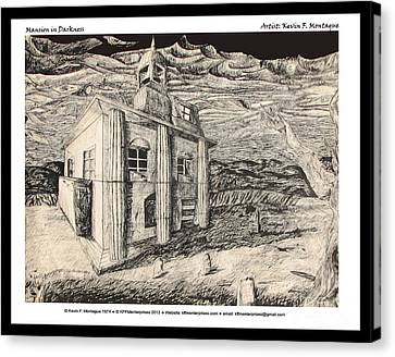 Mansion In Darkness Canvas Print by Kevin Montague