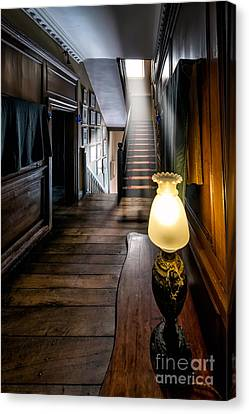 Mansion Lamp Canvas Print by Adrian Evans