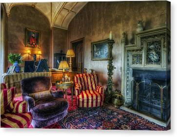 Mansion Lounge Canvas Print by Ian Mitchell