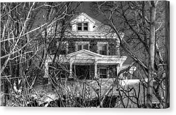 Mansion On The Hill Canvas Print by Ric Potvin