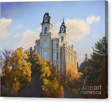 Manti Temple Canvas Print